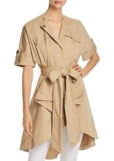 Badgley Mischka Short-Sleeve Trench Coat