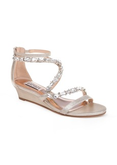 Badgley Mischka Sierra Strappy Wedge Sandal (Women)