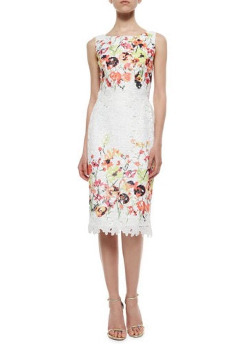 Badgley mischka sleeveless floral