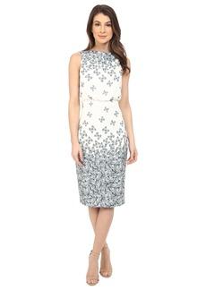 Badgley Mischka Sleeveless Printed Dress