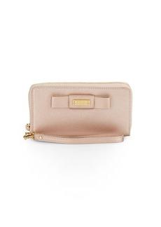 Badgley Mischka Stephanie Saffiano Leather Wristlet Wallet
