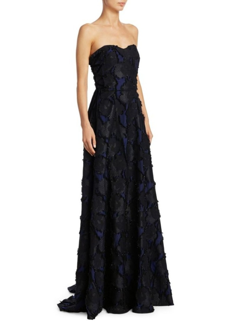 1d0f66dc26d96 Badgley Mischka Badgley Mischka Strapless Floral Filcoupe Floor ...