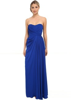 Badgley Mischka Strapless Gown with Slit