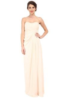 Badgley Mischka Strapless Gown with Slit