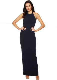 Badgley Mischka Stretch Crepe Halter