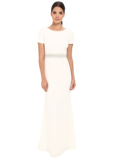 Badgley Mischka T-Shirt Cascade Gown