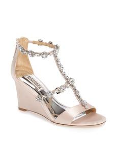 Badgley Mischka Tabby Embellished Wedge Sandal (Women)
