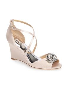 Badgley Mischka Tacey Embellished Strappy Wedge Sandal (Women)