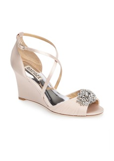 Badgley Mischka Tacey Embellished Strappy Wedge Sandal (Women)