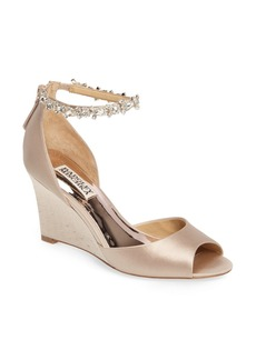 Badgley Mischka Tahlia Crystal Ankle Strap Sandal (Women)