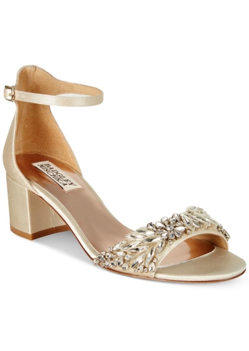 26435ef132c Badgley Mischka Tamara Block-Heel Evening Sandals Women s Shoes