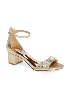 Badgley Mischka Tamara Crystal Block Heel Sandal (Women)
