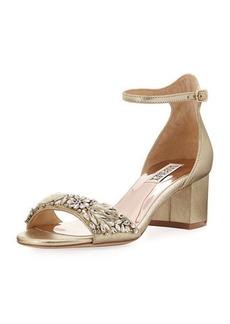Badgley Mischka Tamara Low-Heel Dressy Sandal
