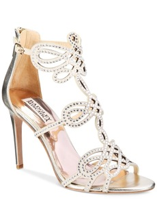Badgley Mischka Teri Strappy Embellished Evening Sandals Women's Shoes