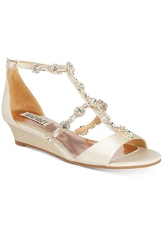 Badgley Mischka Terry Evening Wedge Sandals Women's Shoes