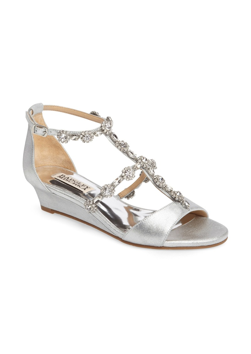 10ea98a623b3 Badgley Mischka Badgley Mischka Terry II Crystal Embellished Wedge ...