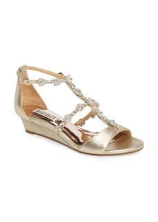 Badgley Mischka Terry II Crystal Embellished Wedge Sandal (Women)