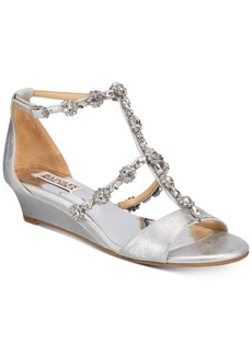 Badgley Mischka Terry Ii Wedge Evening Sandals Women's Shoes