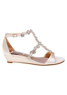 Badgley Mischka Terry Satin Embellished Sandals