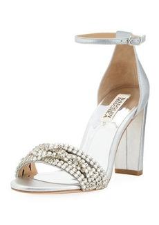 Badgley Mischka Tessa Metallic Embellished Sandal