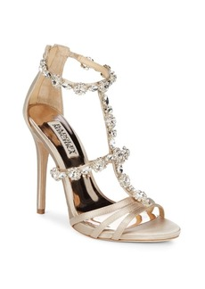 Badgley Mischka Thelma Satin Crystal Heels