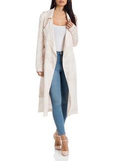 Badgley Mischka Tie-Dye Trench Coat