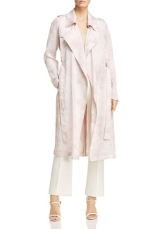 Badgley Mischka Tie-Dye Trench Coat