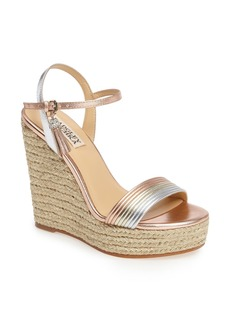 Badgley Mischka Trace Strappy Platform Wedge Sandal (Women)