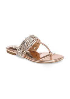Badgley Mischka Trent Embellished Flat Sandal (Women)