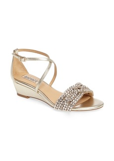 Badgley Mischka Tressa Embellished Wedge Sandal (Women)