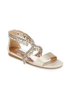 Badgley Mischka Tristen Leather Slide Sandals