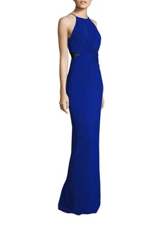 Badgley Mischka Twist Front Cutout Gown