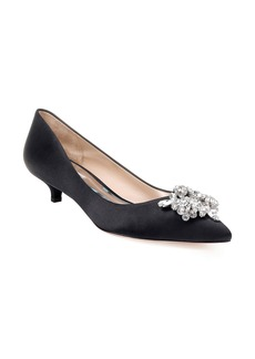 Badgley Mischka Vail Embellished Kitten Heel Pump (Women)