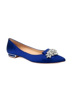 Badgley Mischka Valeria Crystal Embellished Flat (Women)