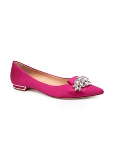 Badgley Mischka Valeria Crystal Embellished Flat (Women)