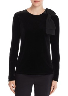 Badgley Mischka Velvet Bow Top