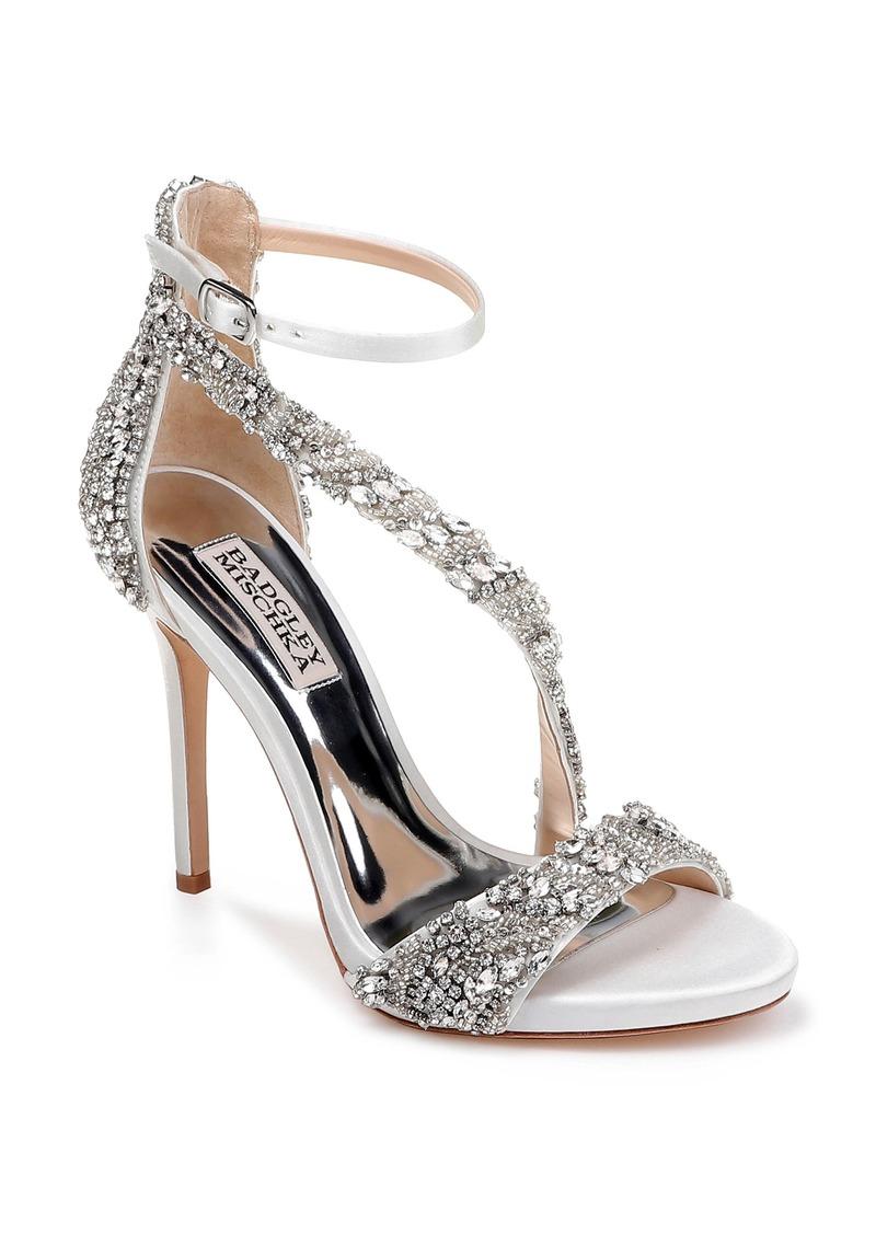 Badgley Mischka Venice Crystal Embellished Strappy Sandal (Women)