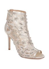 Badgley Mischka Verona Peep Toe Bootie (Women)