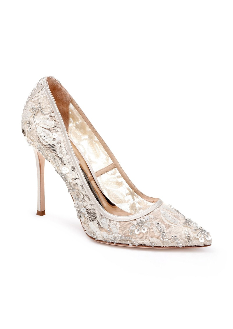 Badgley Mischka Veronica Lace Pump (Women)