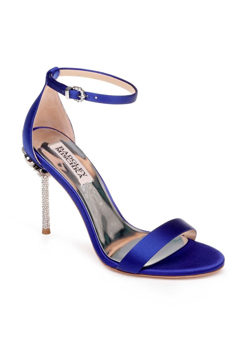 Badgley Mischka Vicia Crystal Embellished Heel Sandal (Women)