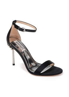 Badgley Mischka Vicia Crystal Embellished Heel Sandal (Women)