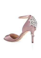 Badgley Mischka Vienna Crystal Embellished Ankle Strap Pump (Women)