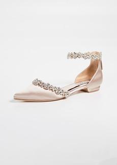 Badgley Mischka Vivien Ankle Strap Flats