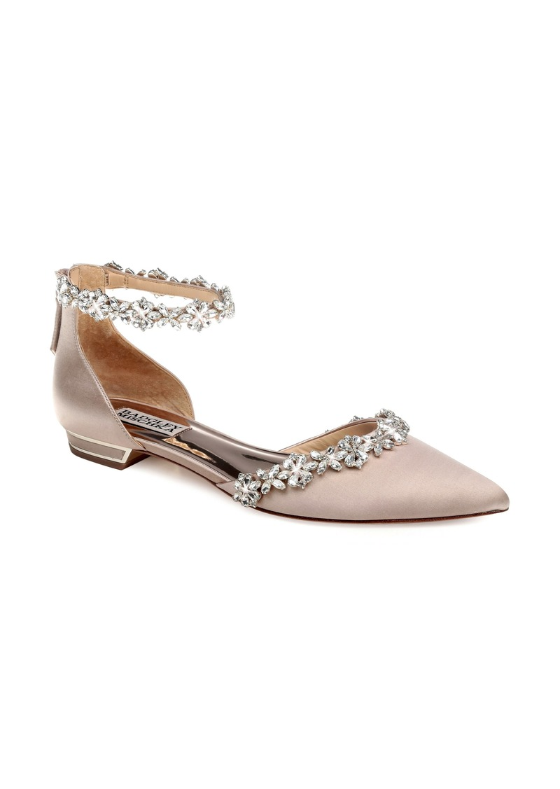 Badgley Mischka Vivien Crystal Embellished Open Flat (Women)