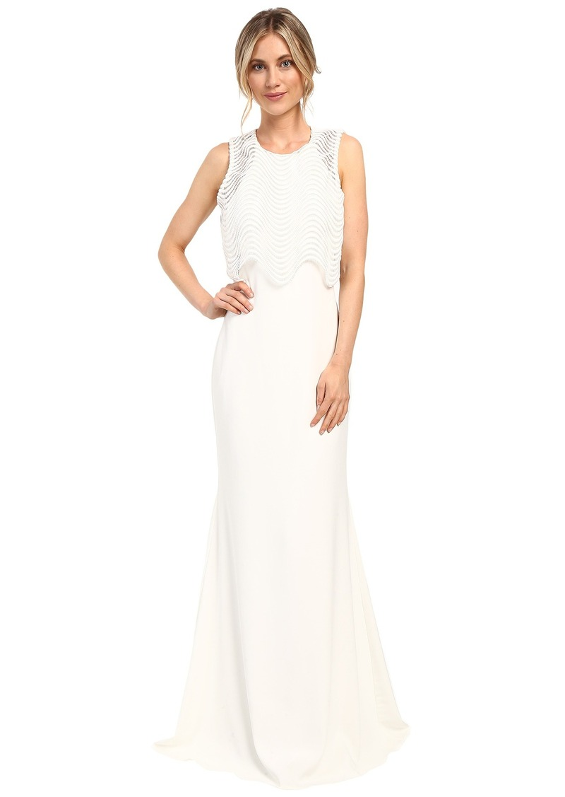 4258664a1591 SALE! Badgley Mischka Badgley Mischka Wave Lace Popover Gown