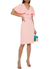 Badgley Mischka Woman Belted Layered Crepe Dress Baby Pink