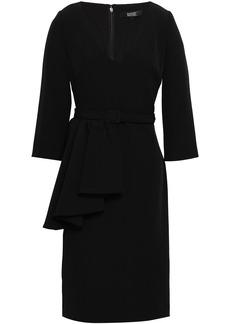 Badgley Mischka Woman Draped Stretch-crepe Dress Black