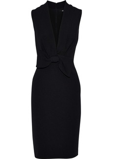 Badgley Mischka Woman Bow-embellished Faille Dress Black