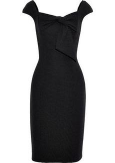 Badgley Mischka Woman Bow-embellished Ponte Dress Black