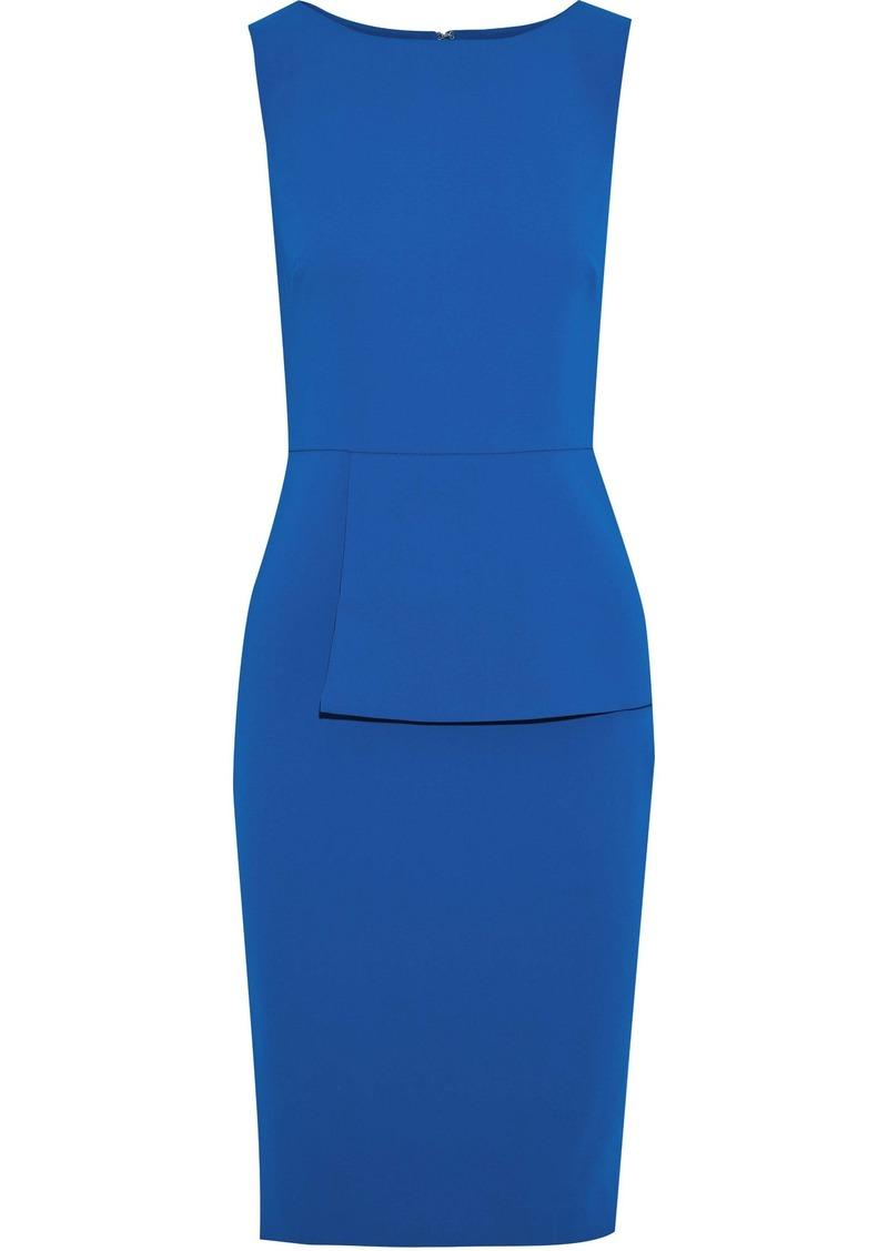 Badgley Mischka Woman Cady Peplum Dress Cobalt Blue